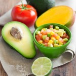 Papaya Tomato Avocado Salad with Mango Salsa